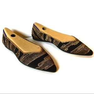 Rothy's | Golden Shimmer Points Size 8